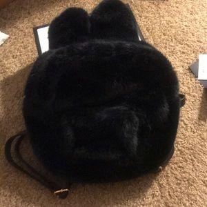 Fuzzy rabbit backpack